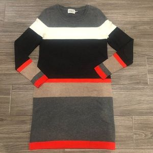 Eliza J Color Block Sweater Dress - Size Small